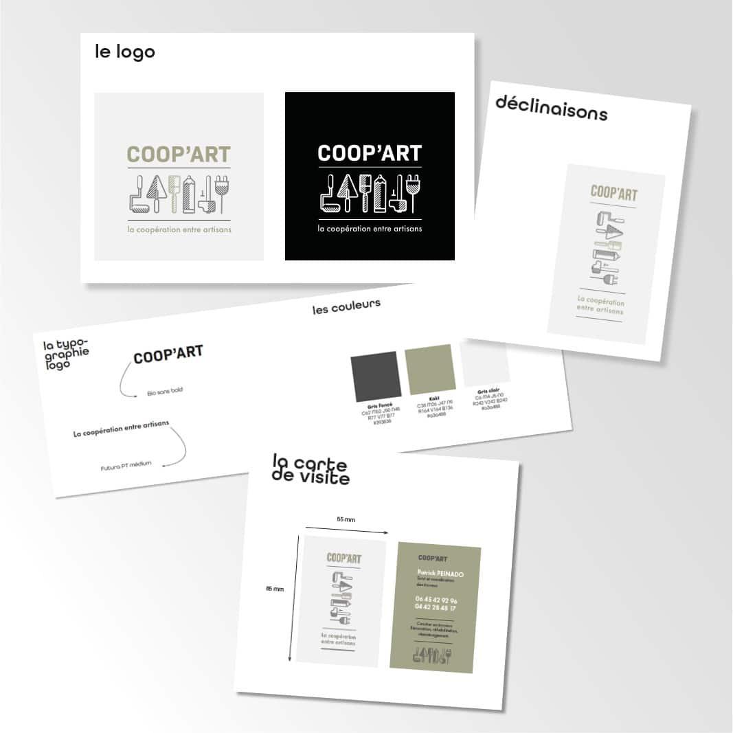 Charte graphique de COOP ART